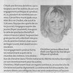 """nécrologie christine larraux-blanchard paru dans le """"petit bleu"""""""